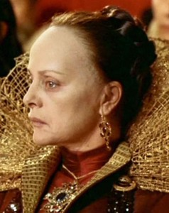 "Nel ruolo di Caterina de Medici ne ""La Regina Margot"""
